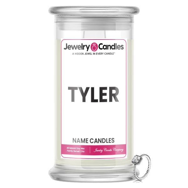 TYLER Name Jewelry Candles