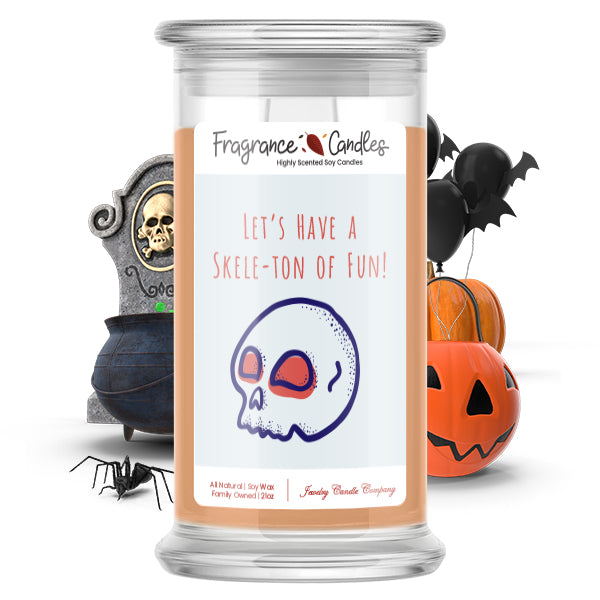 Let's have a skele-ton of fun! Fragrance Candle