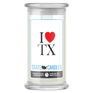 I Love TX State Candles