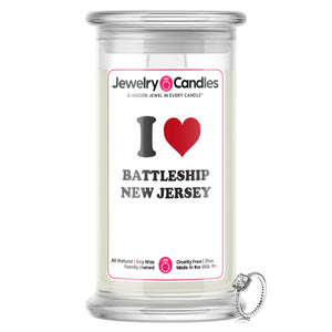 I Love BATTLESHIP NEW JERSEY  Landmark Jewelry Candles