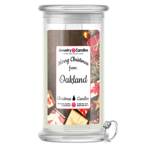 Merry Christmas From  OAKLAND Jewelry Candles