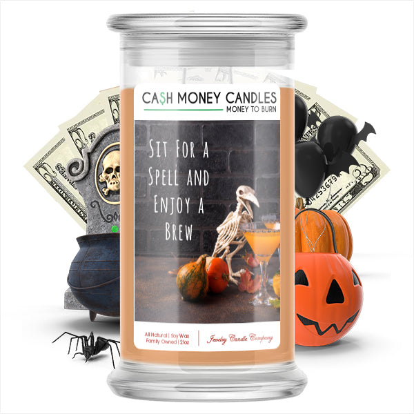 Sit for spell and enjoy a brew Cash Money Candle