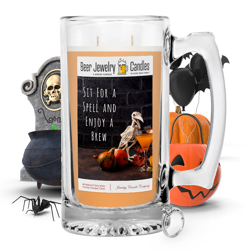 Sit for spell and enjoy a brew Beer Jewelry Candle