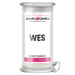 WES Name Jewelry Candles