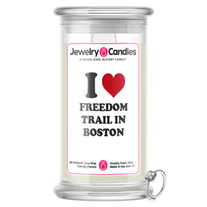 I Love FREEDOM TRAIL IN BOSTON Landmark Jewelry Candles