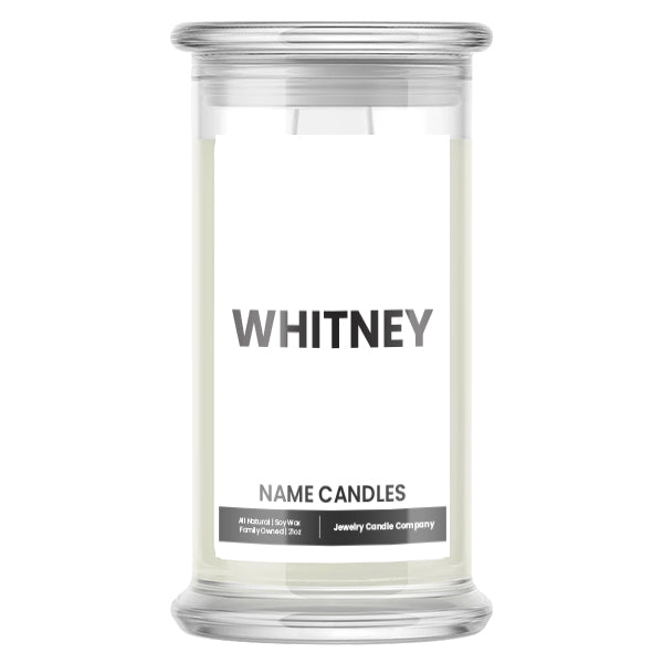 WHITNEY Name Candles