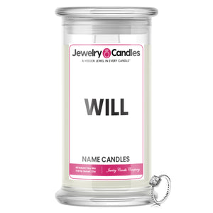 WILL Name Jewelry Candles