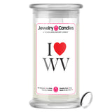 I Love WV Jewelry State Candles