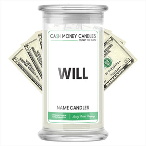 WILL Name Cash Candles