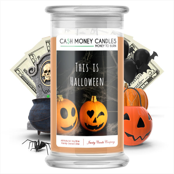 This Is halloween Cash Money Candle