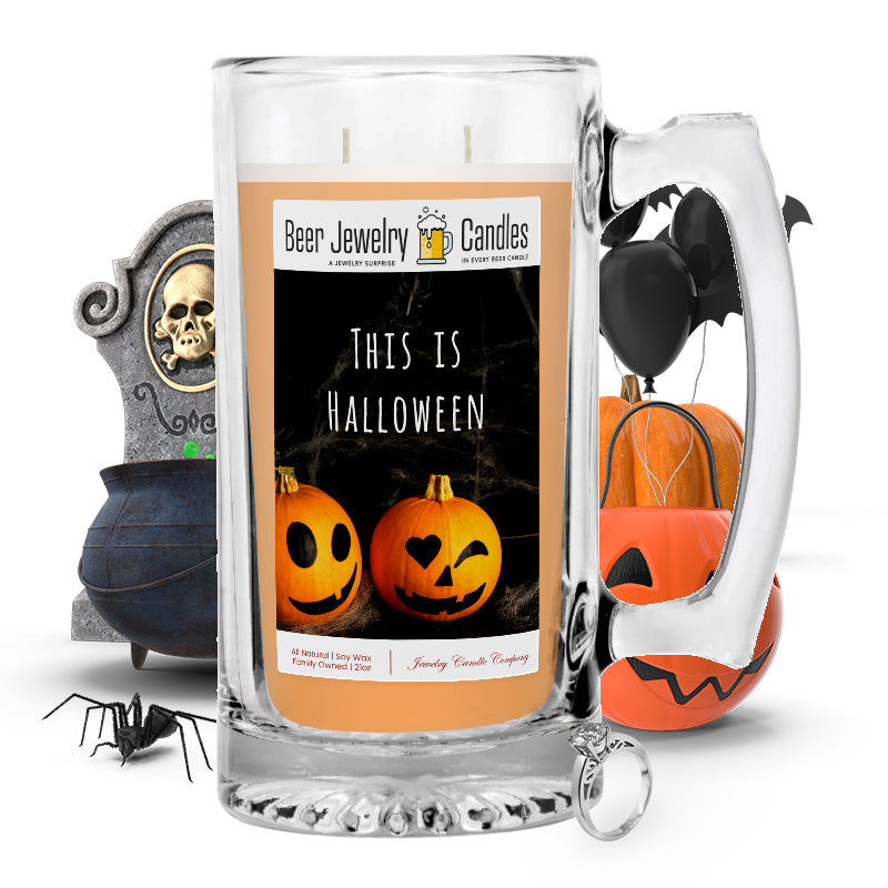 This Is halloween Beer Jewelry Candle