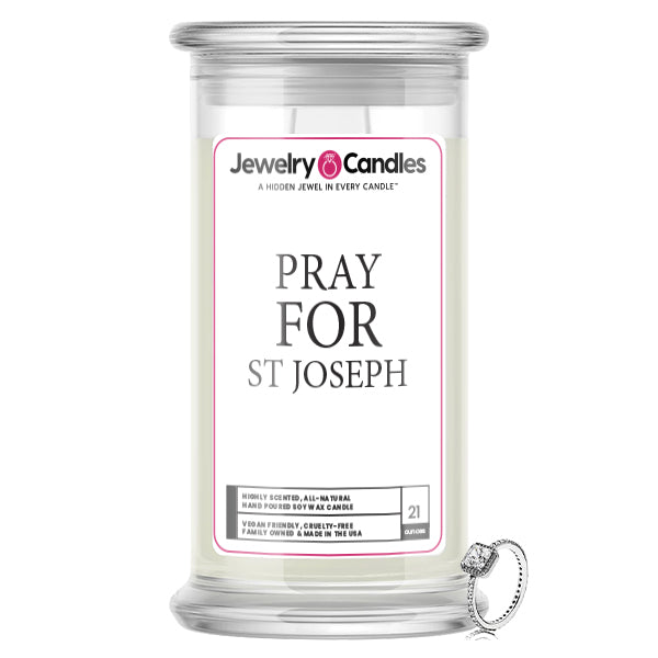 Pray For St Joseph Jewelry Candle