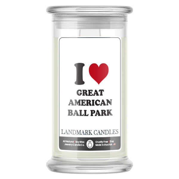 I Love GREAT AMERICAN BALL PARK Landmark Candles