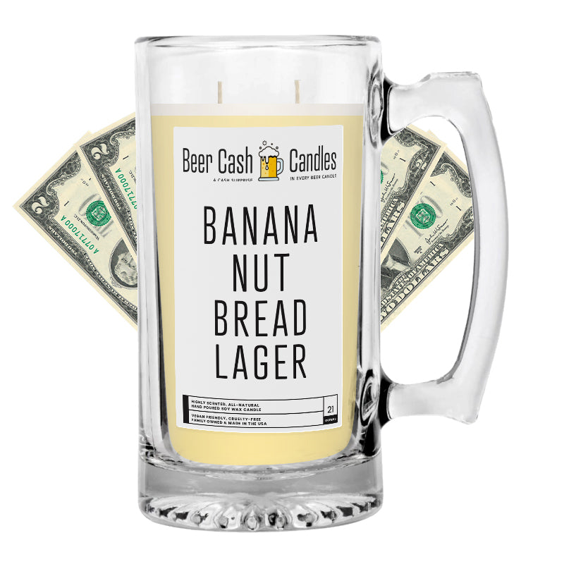 Banana Nut Bread Lager Beer Cash Candle