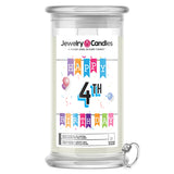 Happy 4th Birthday Jewelry Candle