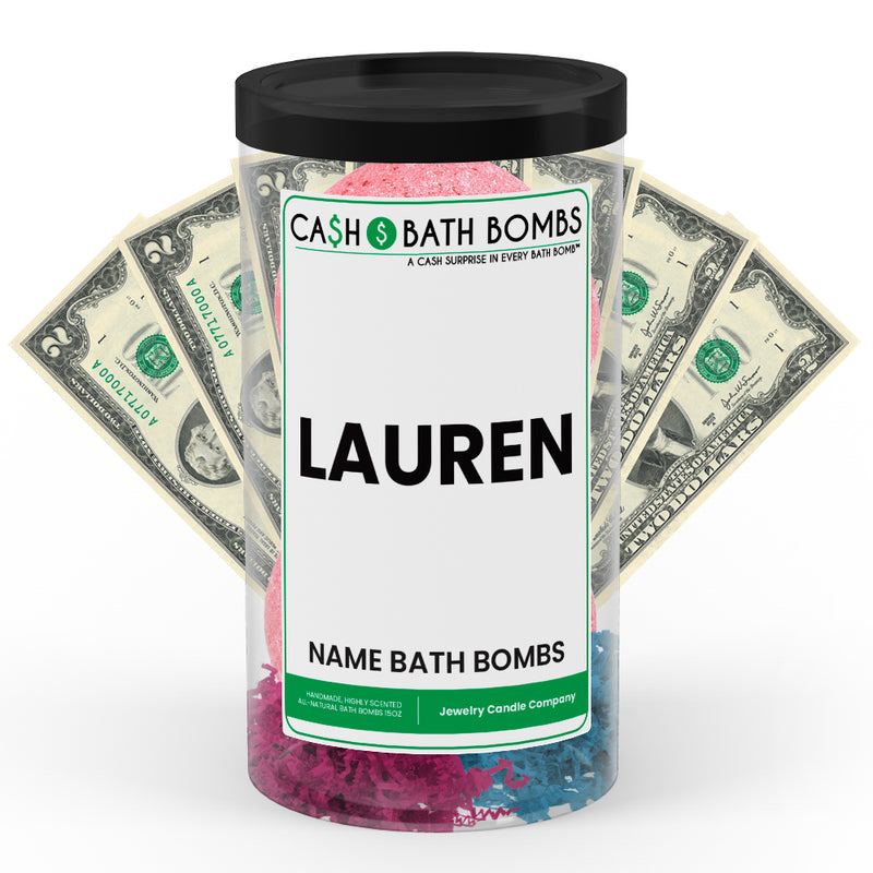 LAUREN Name Cash Bath Bomb Tube