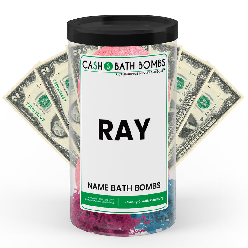 RAY Name Cash Bath Bomb Tube