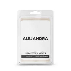 ALEJANDRA Name Wax Melts