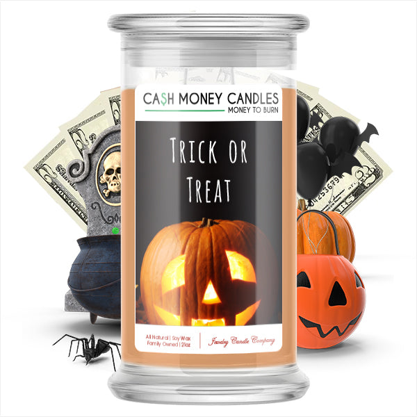 Trick or treat Cash Money Candle