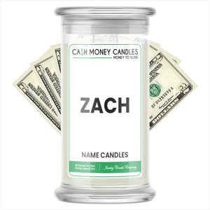 ZACH Name Cash Candles