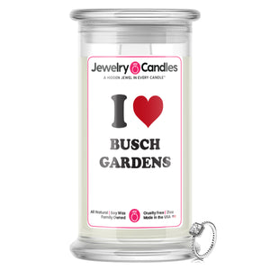 I Love BUSCH GARDENS Landmark Jewelry Candles