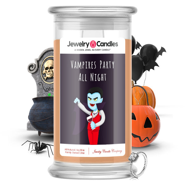 Vampires party all night Jewelry Candle
