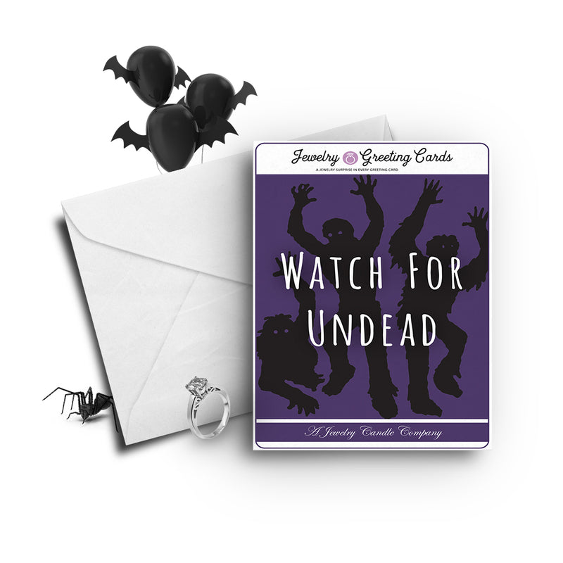 Witch for undead Jewelry Greetings Card