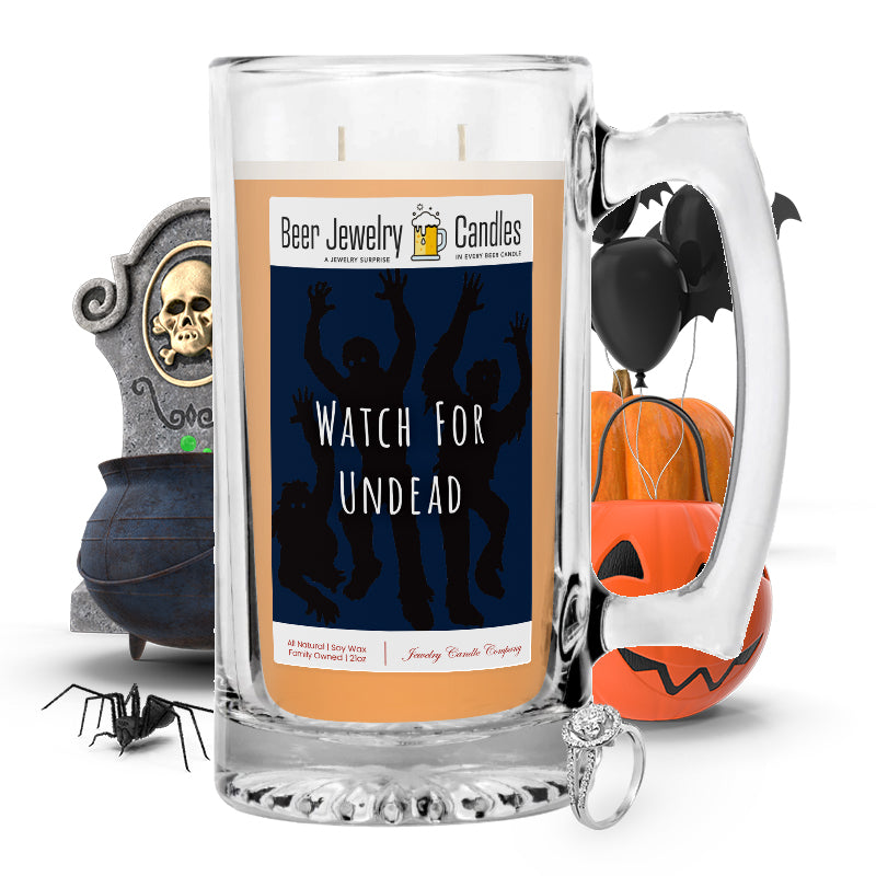 Witch for undead Beer Jewelry Candle
