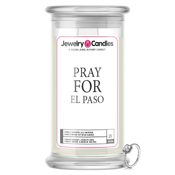 Pray For El Paso Jewelry Candle