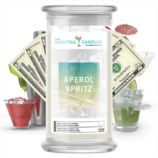 Aperol Spritz Cocktail Cash Candle