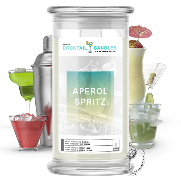 Aperol Spritz Cocktail Jewelry Candle