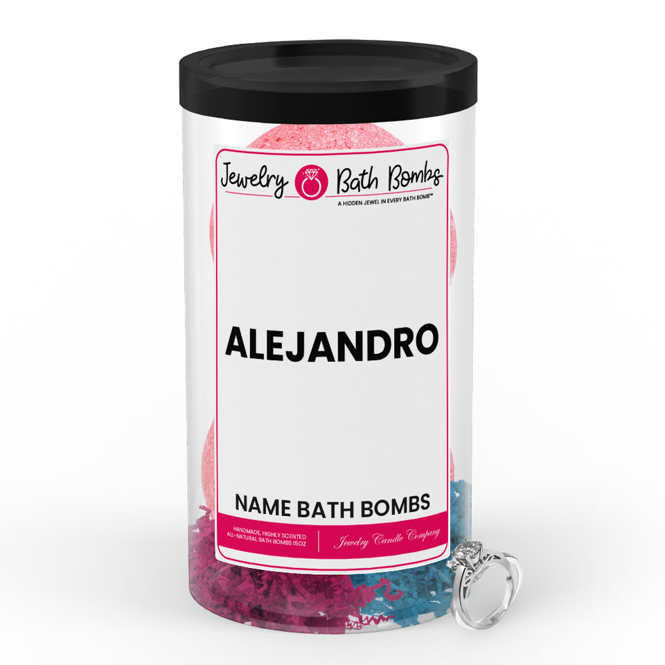 ALEJANDRO Name Jewelry Bath Bomb Tube