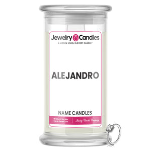 ALEJANDRO Name Jewelry Candles