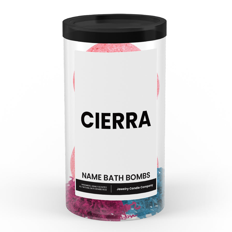 CIERRA Name Bath Bomb Tube