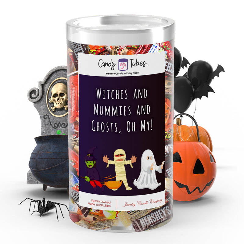 Witches and mummies and ghosts, oh my! Candy