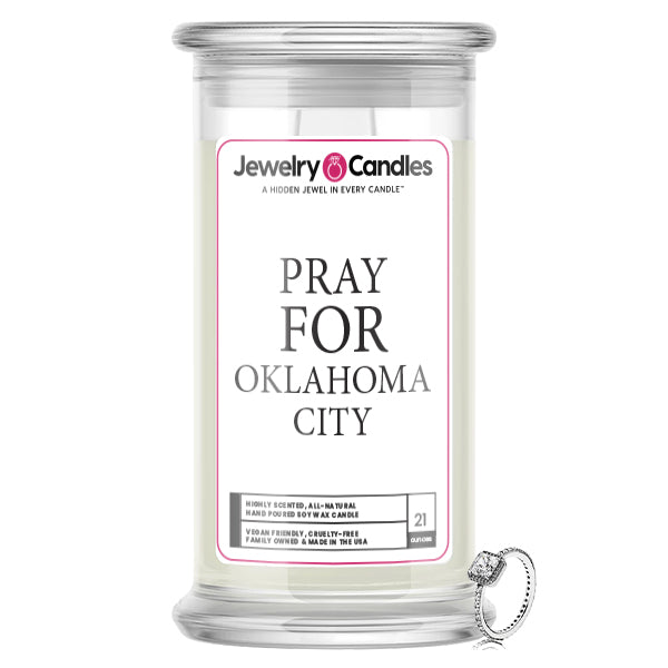 Pray For Okalahoma City Jewelry Candle