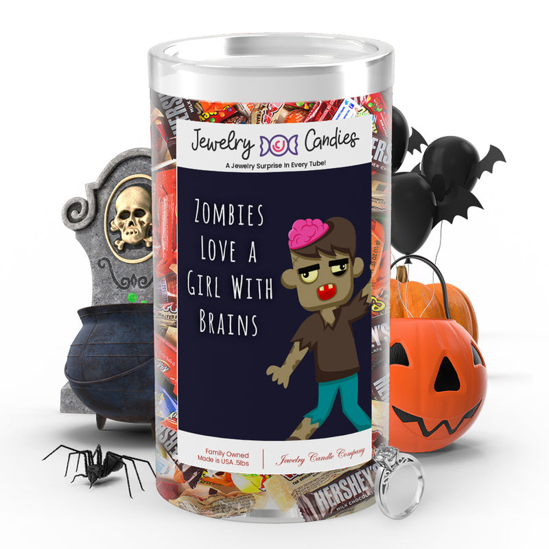 Zombies love a girl with brains Jewelry Candy