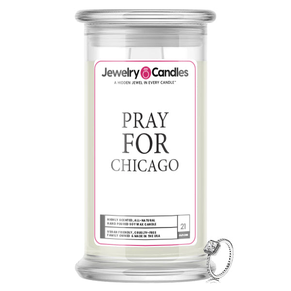 Pray For Chicago Jewelry Candle
