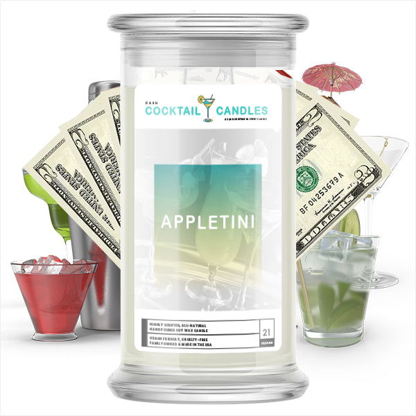 Appletini Cocktail Cash Candle