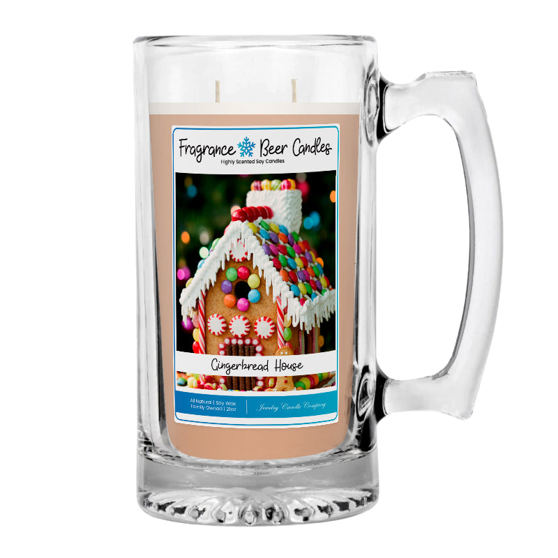 Gingerbread House Fragrance Beer Candle
