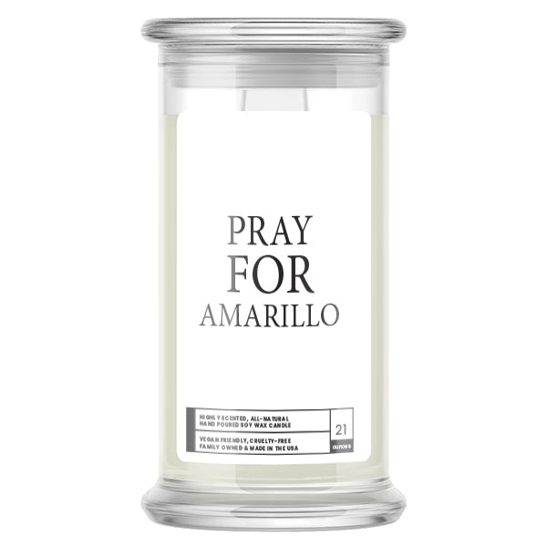 Pray For Amarillo Candle