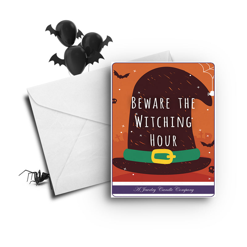 Beware the witching hour Greetings Card