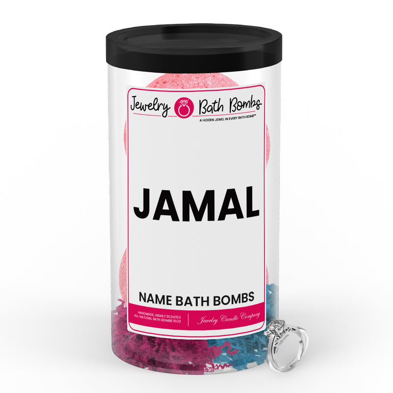 JAMAL Name Jewelry Bath Bomb Tube