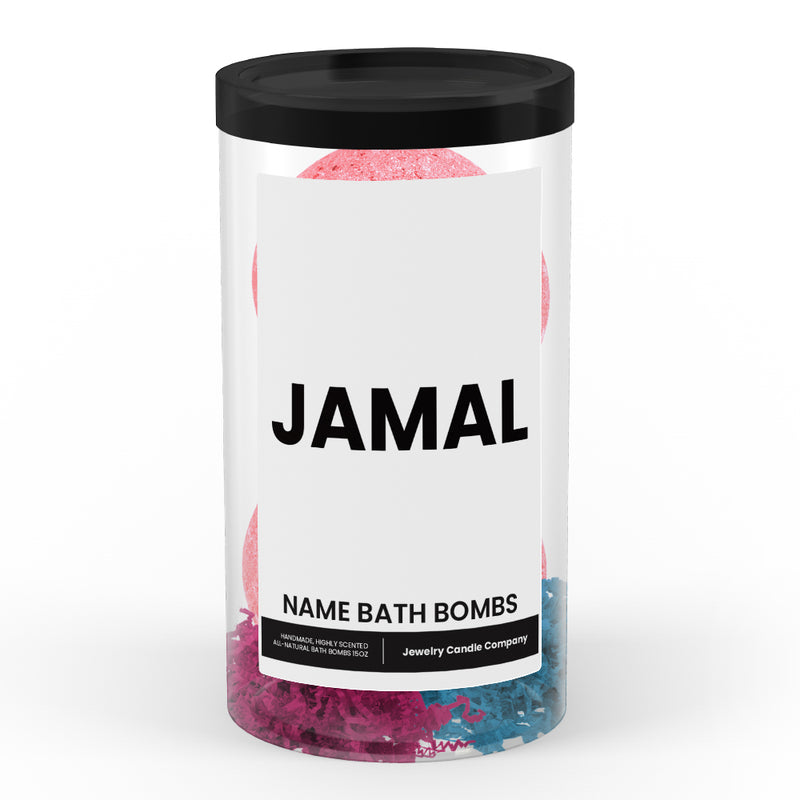 JAMAL Name Bath Bomb Tube