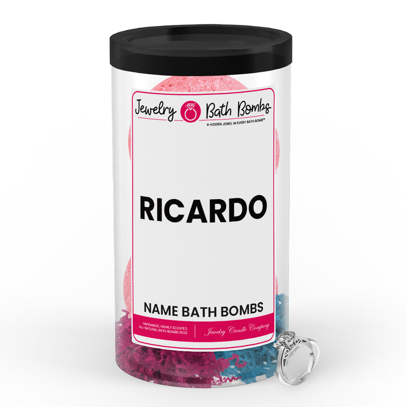 RICARDO  Name Jewelry Bath Bomb Tube