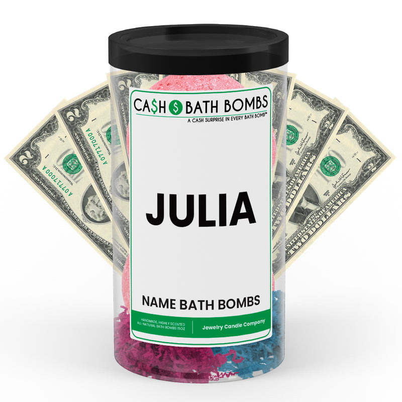 JULIA Name Cash Bath Bomb Tube
