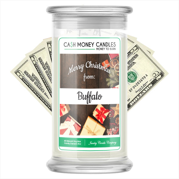 Merry Christmas From BUFFALO Cash Money Candles