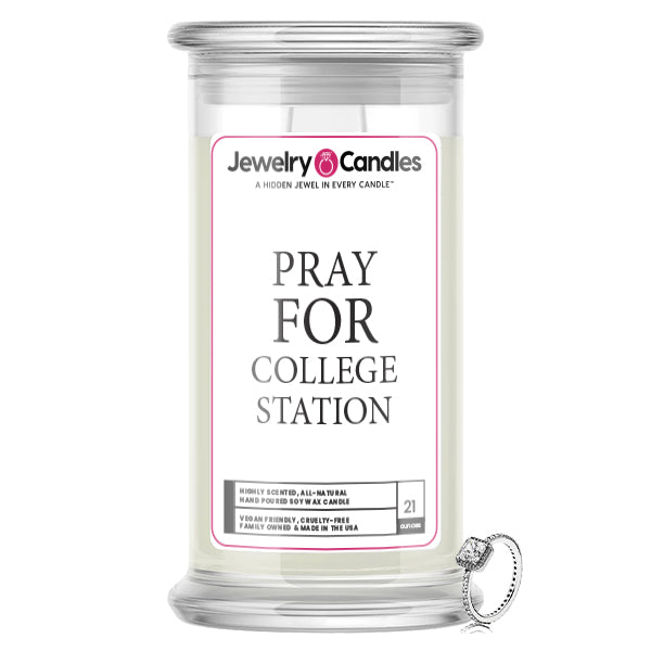 Pray For College Station Jewelry Candle