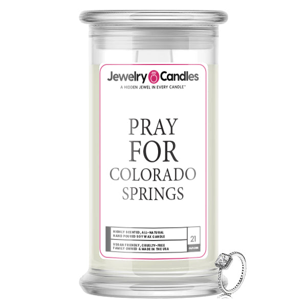 Pray For Colorado Springs Jewelry Candle