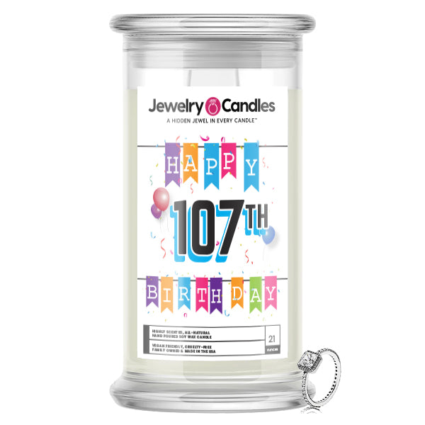 Happy 107th Birthday Jewelry Candle
